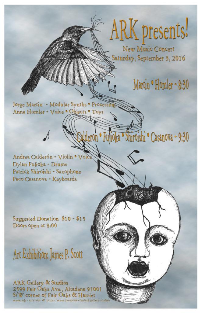 ARK Concert Poster-Flyer Sept. 2016